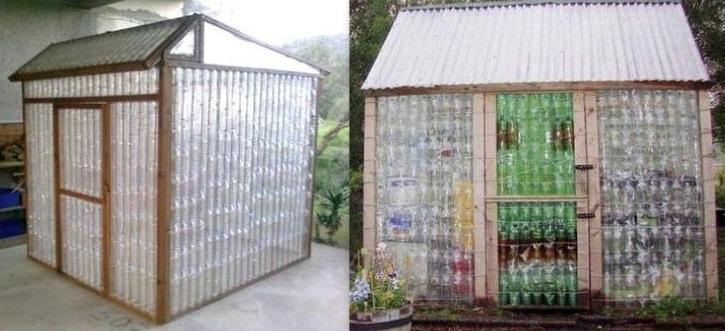 avoir une serre dans son jardin trop facile avec des bouteilles en plastique. Black Bedroom Furniture Sets. Home Design Ideas