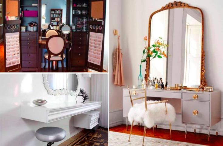 26 coiffeuses originales pour tous les styles. Black Bedroom Furniture Sets. Home Design Ideas