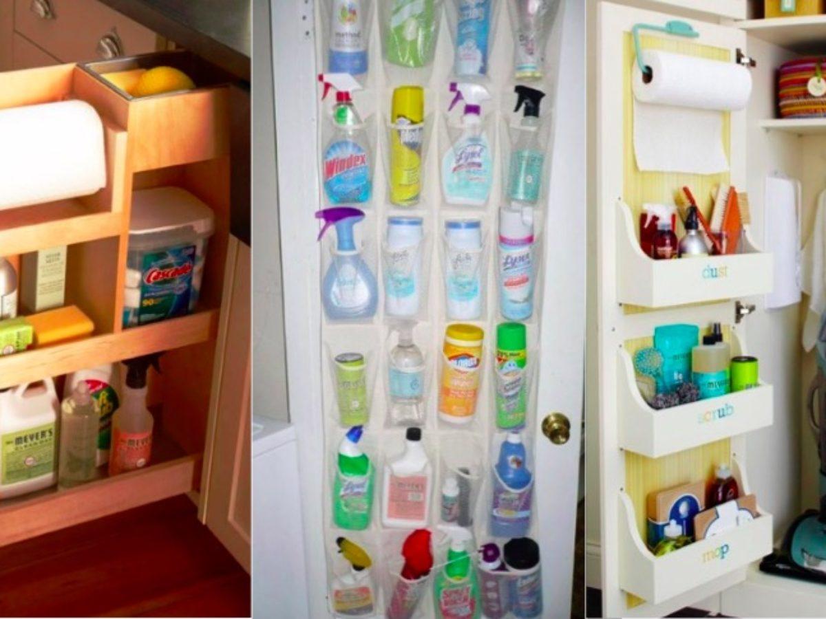 Ou Ranger Les Produits D Entretien 13 idées de rangement et d'organisation pour vos produits