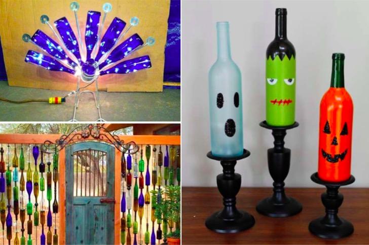 21 nouvelles id es bricolage avec vos bouteilles en verre. Black Bedroom Furniture Sets. Home Design Ideas