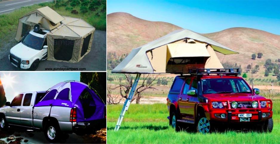 la voiture tente une invention g niale pour un camping confortable en 9 exemples des id es. Black Bedroom Furniture Sets. Home Design Ideas