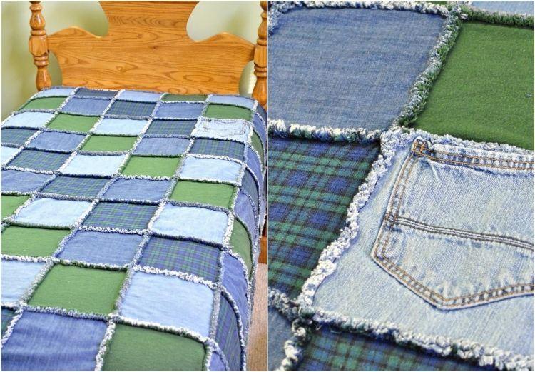 ... surprenantes créées à partir de vieux jeans - Des idées