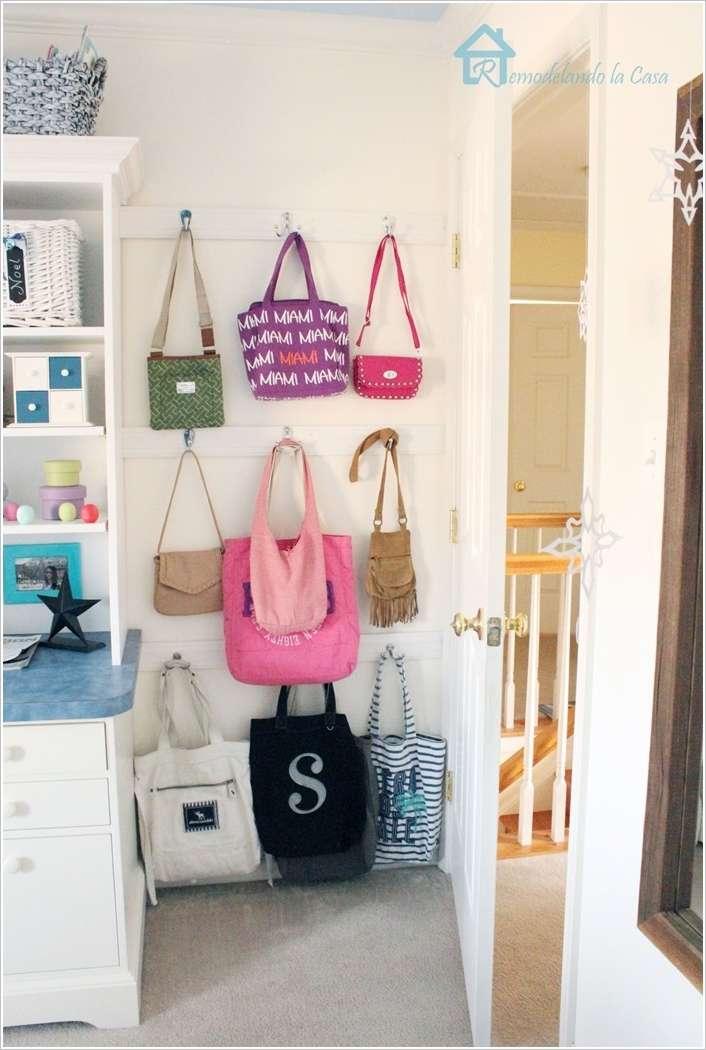 27 inspirations pour un rangement sacs main au top page 3 sur 3 des id es. Black Bedroom Furniture Sets. Home Design Ideas