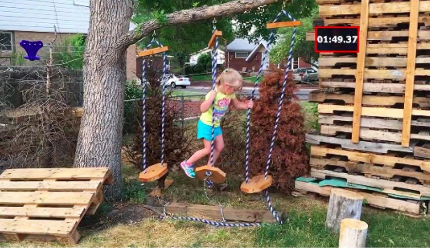Pour sa fille qui r ve de participer ninja warrior il for Cree un jardin