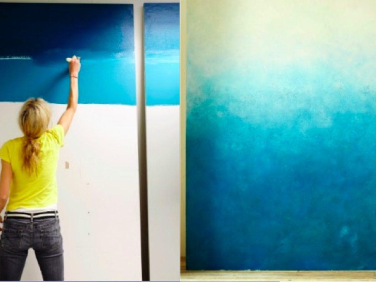 Peindre 2 Murs Sur 4 2 techniques pour obtenir un joli effet dégradé sur vos murs