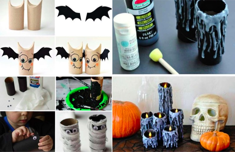 13 id es de bricolage pour halloween avec des rouleaux en carton. Black Bedroom Furniture Sets. Home Design Ideas