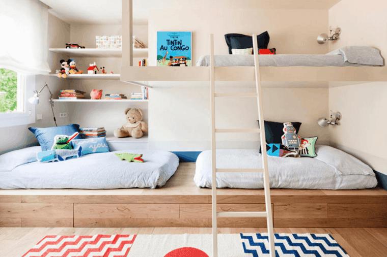 30 id es pour am nager une chambre partag e par plusieurs enfants. Black Bedroom Furniture Sets. Home Design Ideas
