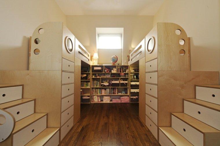 30 id es pour am nager une chambre partag e par plusieurs enfants des id es. Black Bedroom Furniture Sets. Home Design Ideas