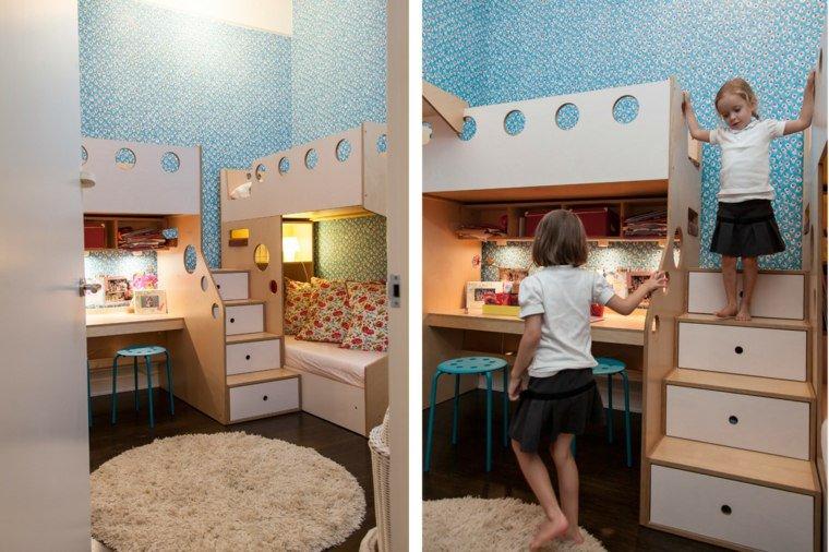 30 id es pour am nager une chambre partag e par plusieurs enfants page 2 sur 3 des id es. Black Bedroom Furniture Sets. Home Design Ideas