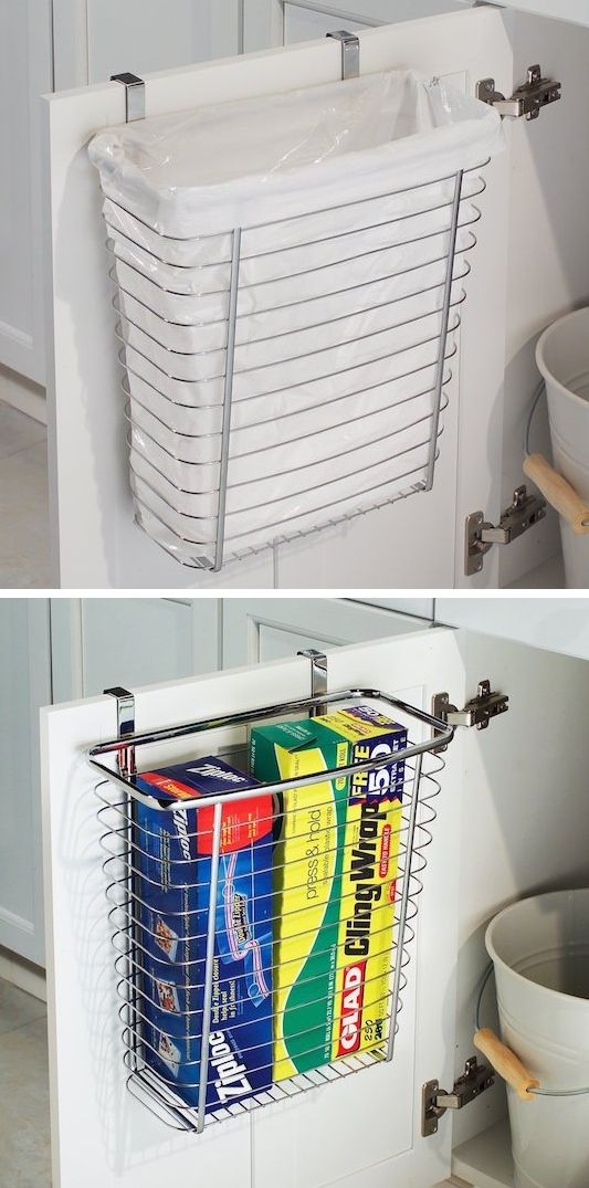 23-use-the-back-of-a-bathroom-cabinet-door-for-your-trash-can-29-sneaky-tips-for-small-space-living