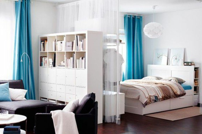 50 id es pour am nager un petit studio des id es. Black Bedroom Furniture Sets. Home Design Ideas
