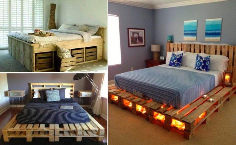 30 id es de lits en palette pour votre chambre page 2. Black Bedroom Furniture Sets. Home Design Ideas