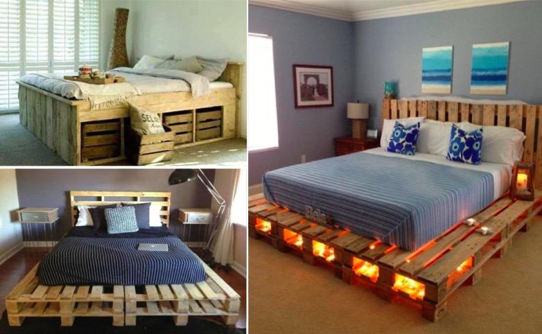 30 id es de lits en palette pour votre chambre page 3 - Chambre en palette ...