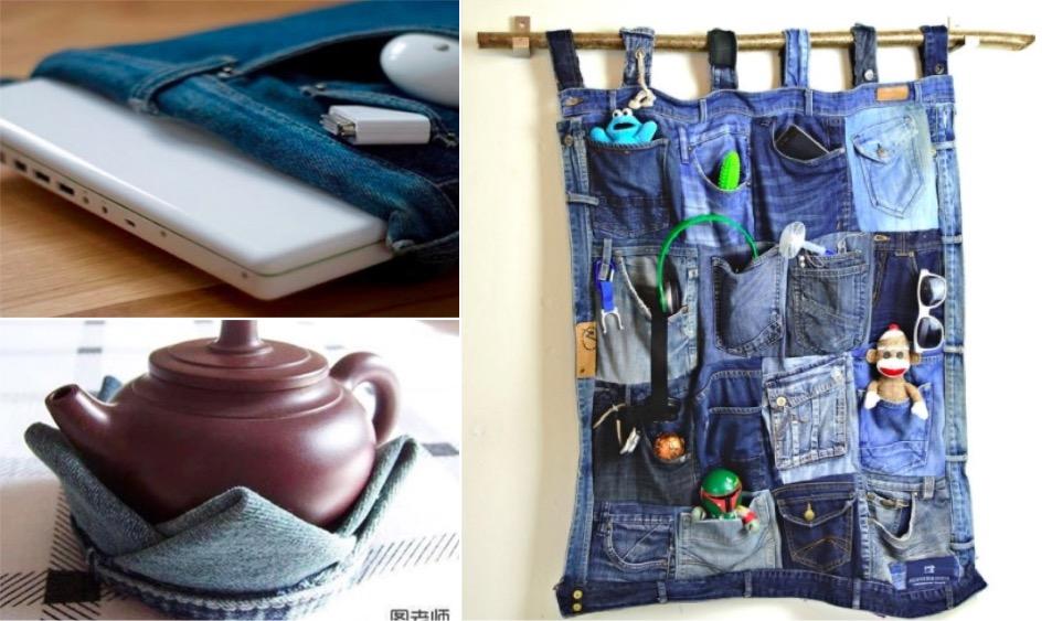 20 superbes id es pour recycler vos vieux jeans page 2 sur 3. Black Bedroom Furniture Sets. Home Design Ideas