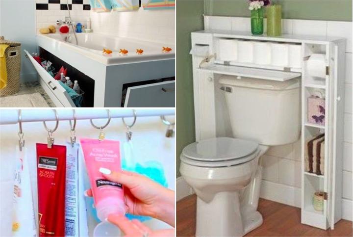 15 id es de rangements astucieux pour votre salle de bain. Black Bedroom Furniture Sets. Home Design Ideas