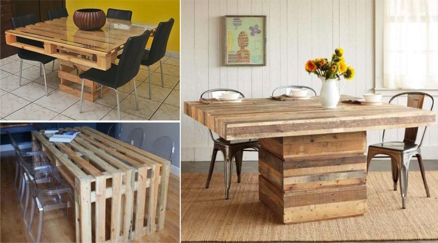 44 idées de table en palette pour votre maison