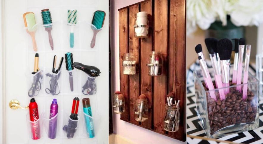 20 id es de rangement super pratiques pour votre maquillage des id es. Black Bedroom Furniture Sets. Home Design Ideas