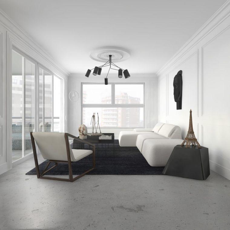 Decoration Petit Salon Design Blanc Estudio Ed