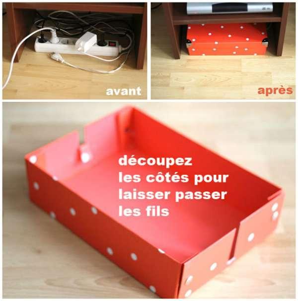 10 id es astucieuses pour dissimuler et ranger les fils lectriques des id es. Black Bedroom Furniture Sets. Home Design Ideas