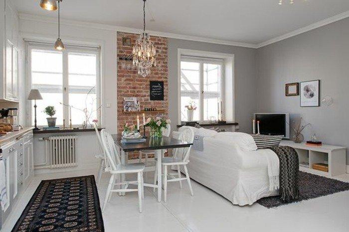 petit-studio-mur-en-briques-rouges-sol-en-lino-blanc-amenagement-petit-studio