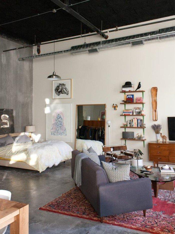 50 id es pour am nager un petit studio page 5 sur 5 des id es. Black Bedroom Furniture Sets. Home Design Ideas
