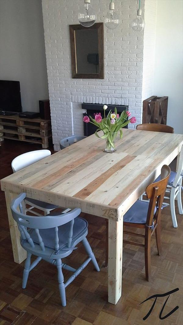 Grande Table A Manger Avec Rallonge: 44 Idées De Table En Palette Pour Votre Maison