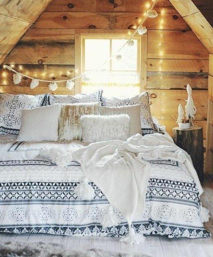 0-idee-deco-romantique-eclairage-romantique-mur-en-planchers-clair ...