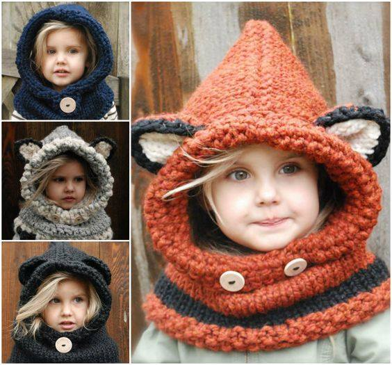 1c899fb83c7e Tuto   La capuche oreilles d ours pour les enfants ou les adultes ...
