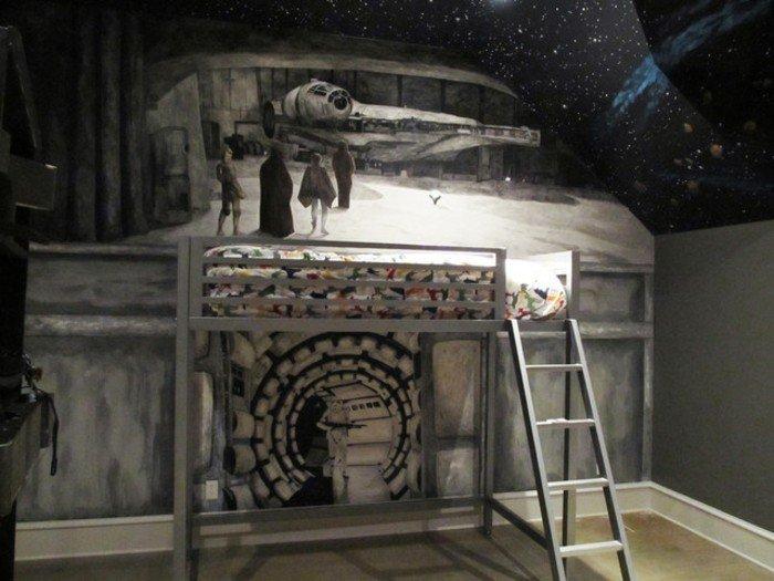 Peinture Chambre Star Wars : Idées de décoration chambre star wars
