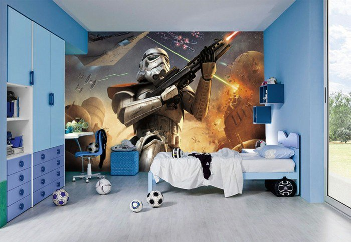 45 id es de d coration de chambre star wars des id es. Black Bedroom Furniture Sets. Home Design Ideas