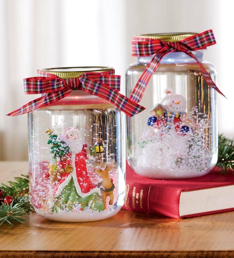 Préférence 35 idées pour transformer des pots en verre en décorations de Noël  VX08