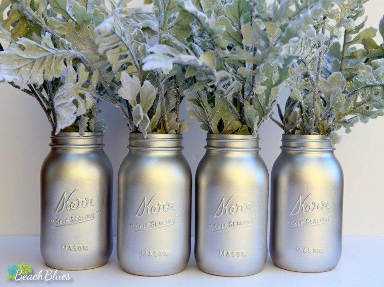 Préférence 35 idées pour transformer des pots en verre en décorations de Noël  EN44