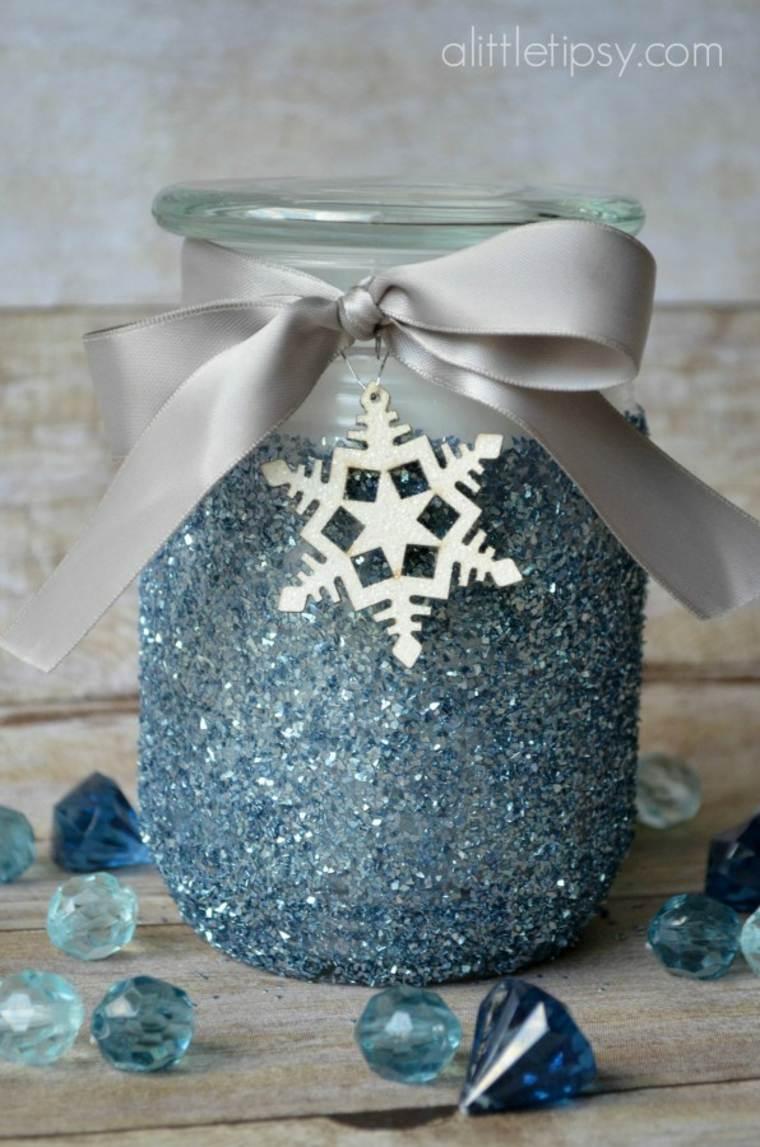 35 Idees Pour Transformer Des Pots En Verre En Decorations De Noel