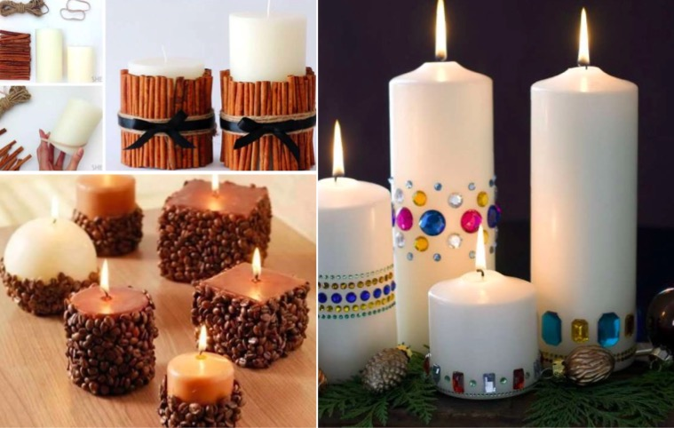 15 id es originales pour d corer vos bougies des id es. Black Bedroom Furniture Sets. Home Design Ideas