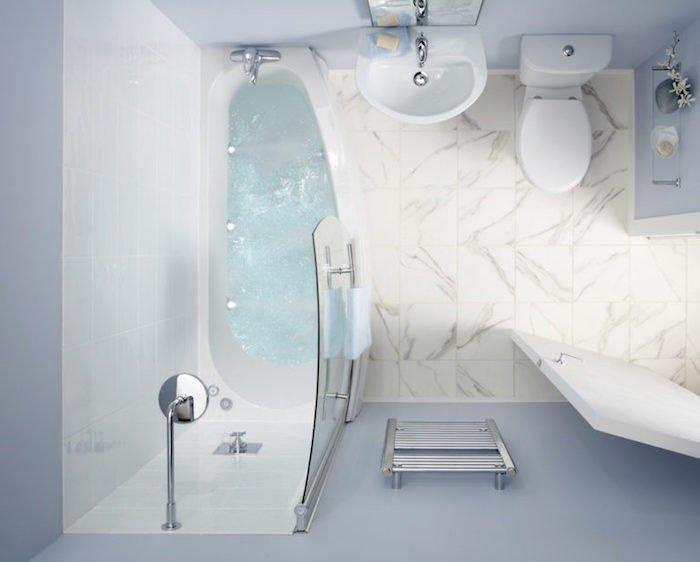 43 id es d 39 am nagement pour une petite salle de bain des for Peut on peindre une baignoire