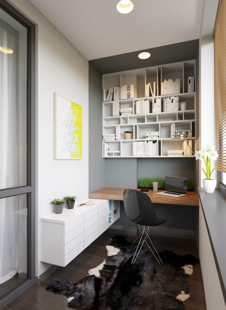 26 idées de bureaux suspendus, le meuble très pratique ... on Small:jdu_Ojl7Plw= Kitchen Remodel Ideas  id=16905