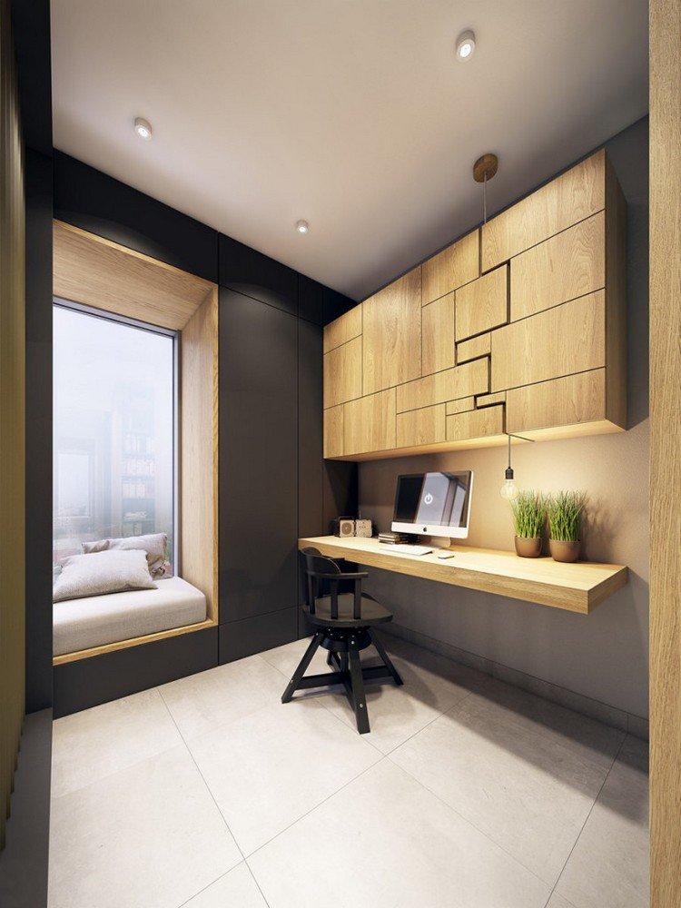 26 id es de bureaux suspendus le meuble tr s pratique pour les petits espaces page 3 sur 3. Black Bedroom Furniture Sets. Home Design Ideas