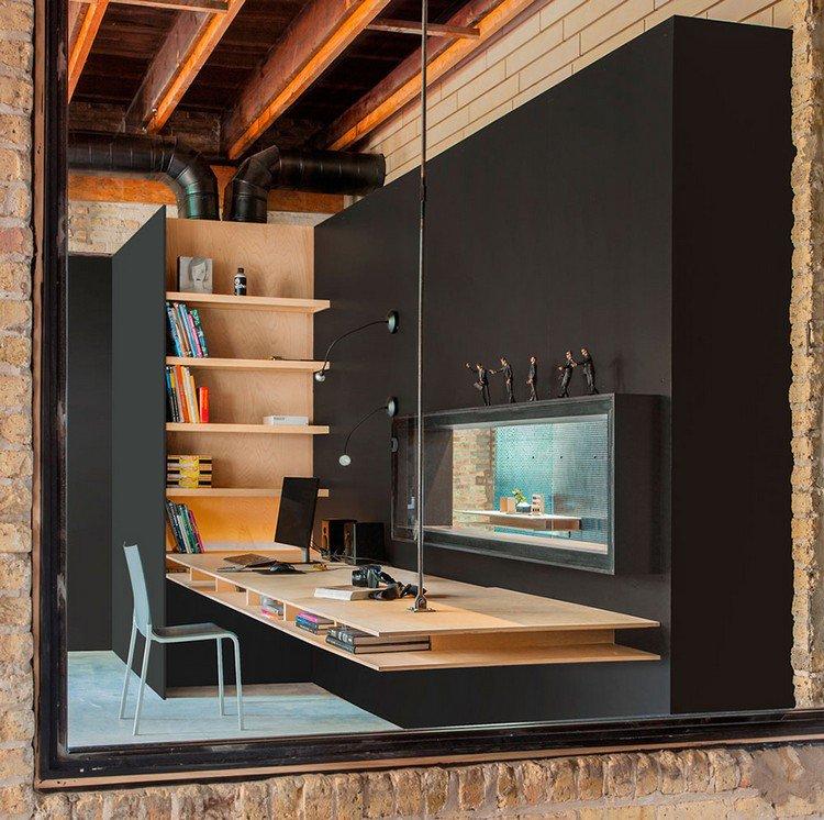26 idées de bureaux suspendus, le meuble très pratique pour les ...