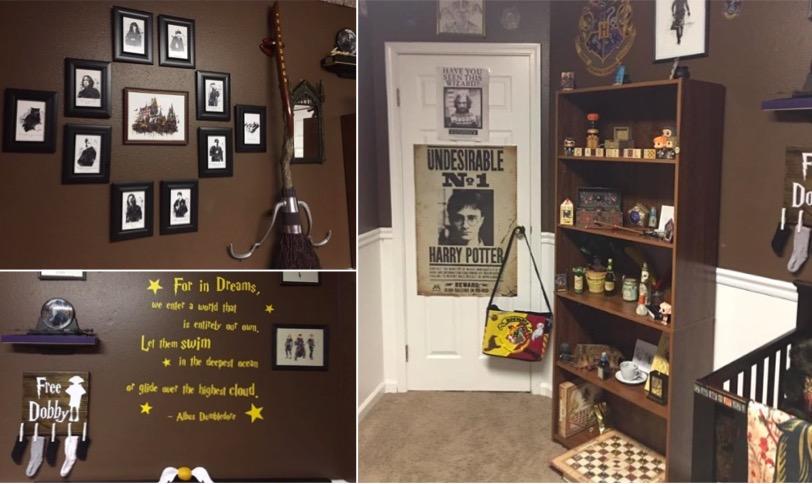 Chambre Deco Harry Potter : Une chambre d enfant entièrement décorée sur le thème