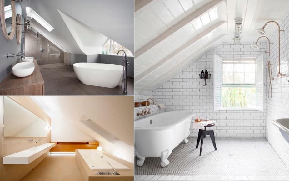 10 exemples r ussis de salle de bain sous les combles. Black Bedroom Furniture Sets. Home Design Ideas