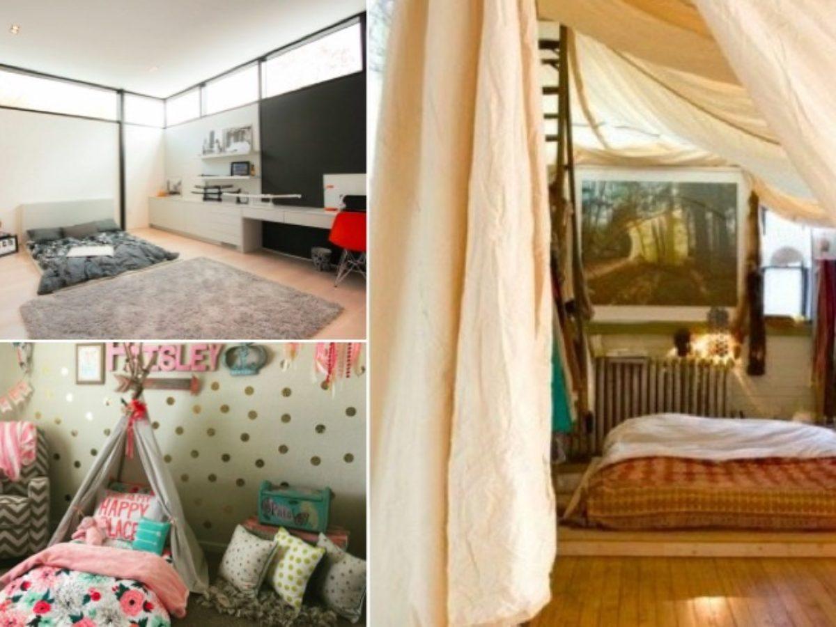 8 modèles de lit au ras du sol pour la chambre à coucher