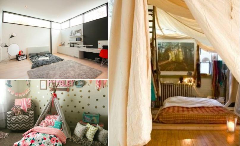 24 modèles de lit au ras du sol pour la chambre à coucher