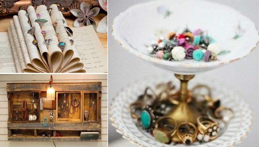 46 id es originales pour fabriquer un porte bijoux page - Fabriquer porte bijoux facile ...