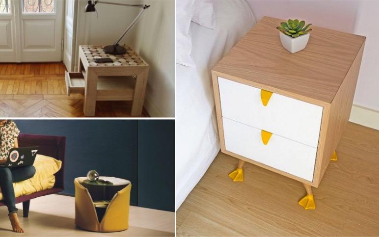 14 tables de nuit id ales pour une chambre coucher moderne. Black Bedroom Furniture Sets. Home Design Ideas