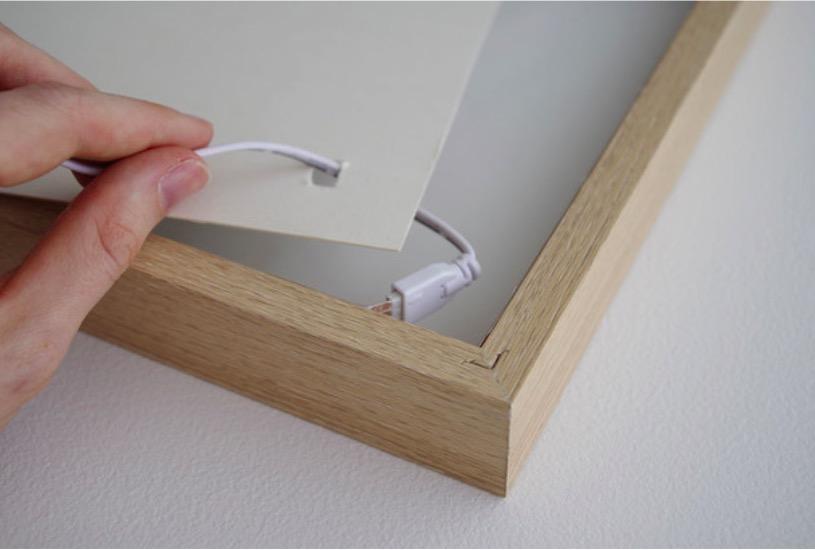 diy fabriquez un cadre message lumineux des id es. Black Bedroom Furniture Sets. Home Design Ideas