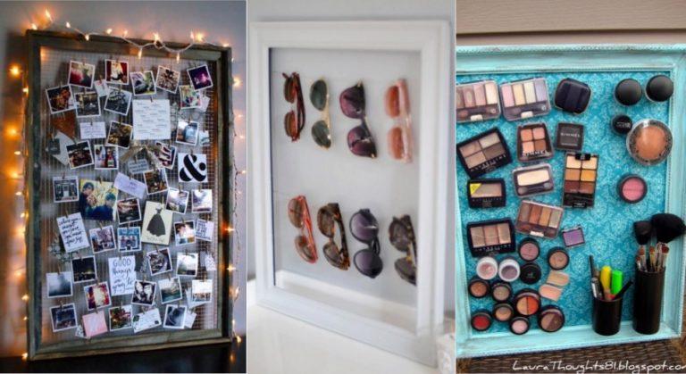 12 mani res originales de recycler vos vieux cadres des id es. Black Bedroom Furniture Sets. Home Design Ideas