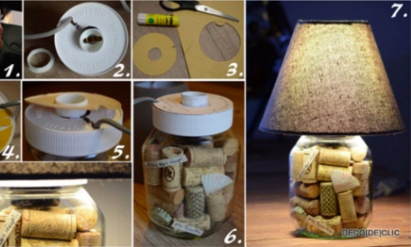 diy transformez un pot de nutella en lampe de chevet. Black Bedroom Furniture Sets. Home Design Ideas