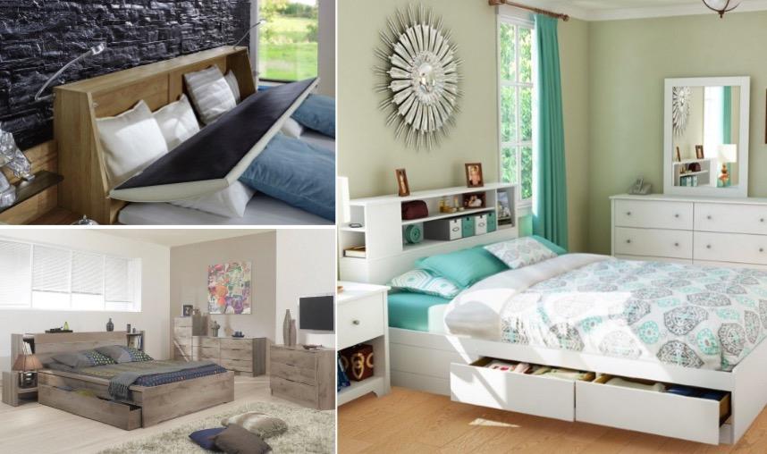 26 t tes de lit avec rangement int gr pour votre chambre. Black Bedroom Furniture Sets. Home Design Ideas