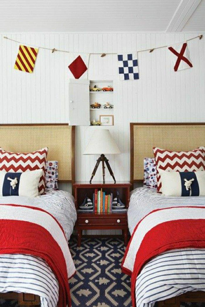 33 id es pour donner un air marin votre chambre des id es. Black Bedroom Furniture Sets. Home Design Ideas