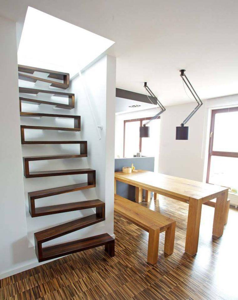 11 escaliers gain de place parfaits pour de petits espaces for Gain de place appartement